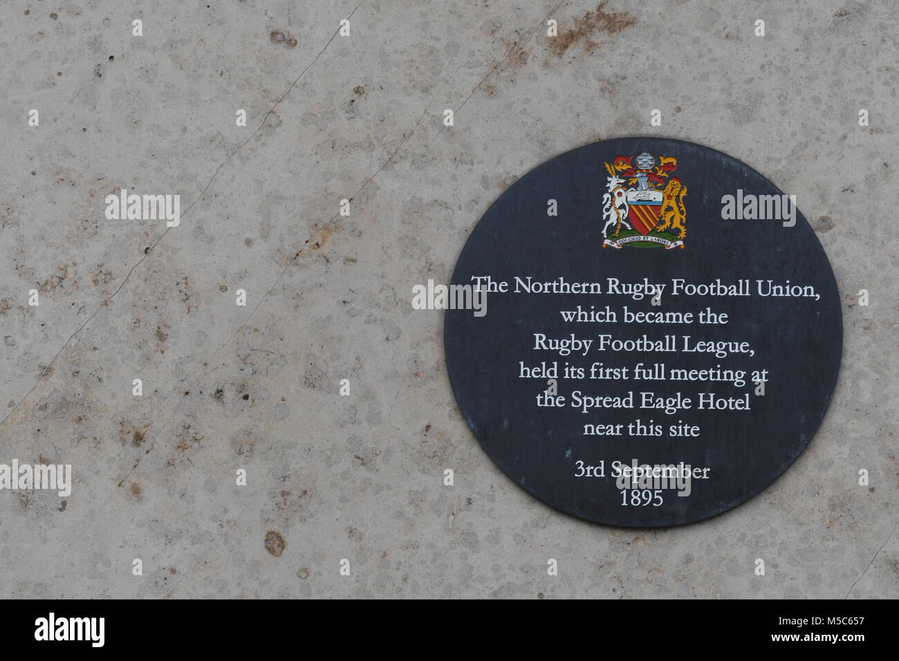 Rugby Football Union plaque - Stock Image