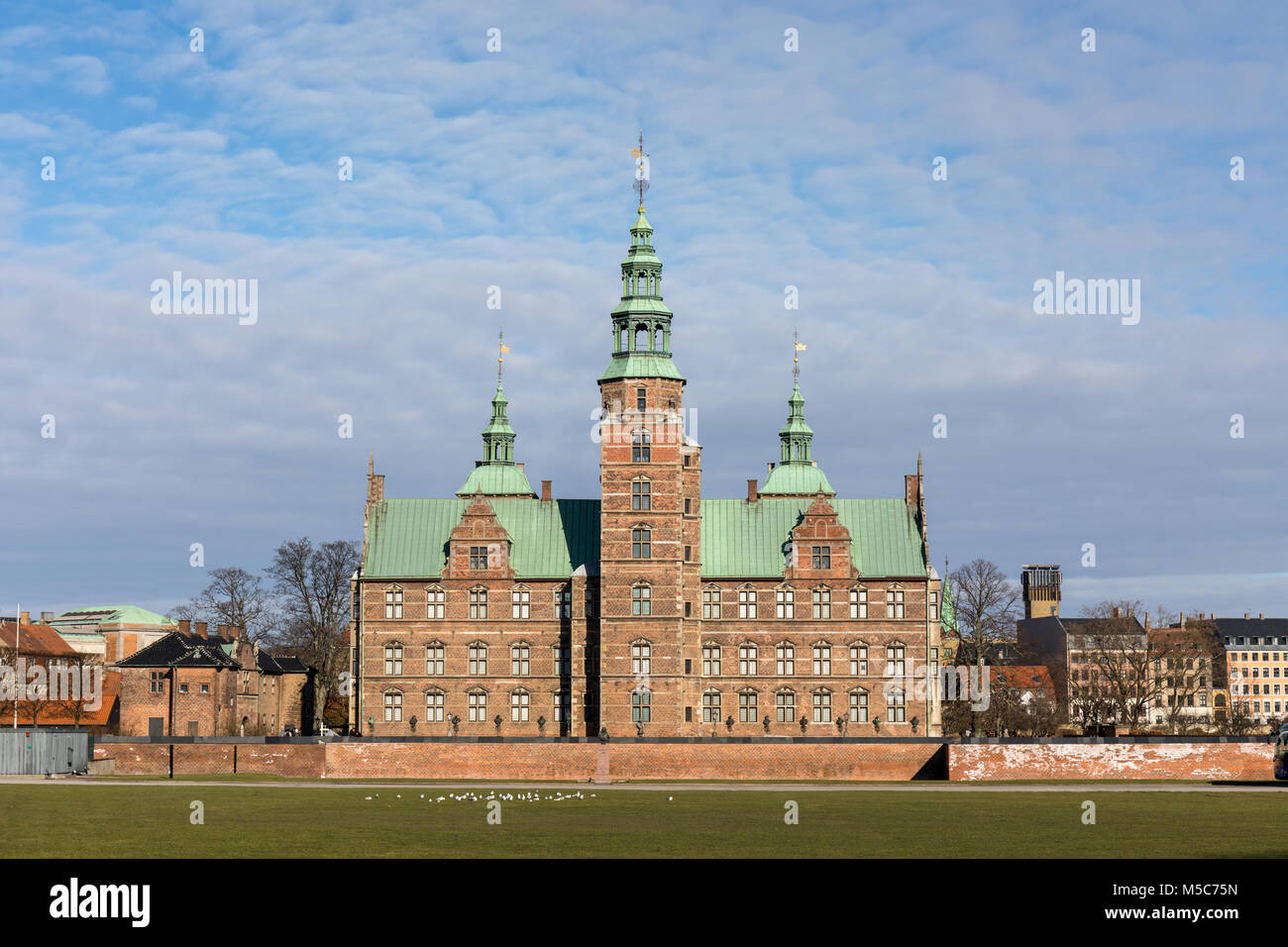 Rosenborg Castle (Danish: Rosenborg Slot), Copenhagen, Denmark - Stock Image
