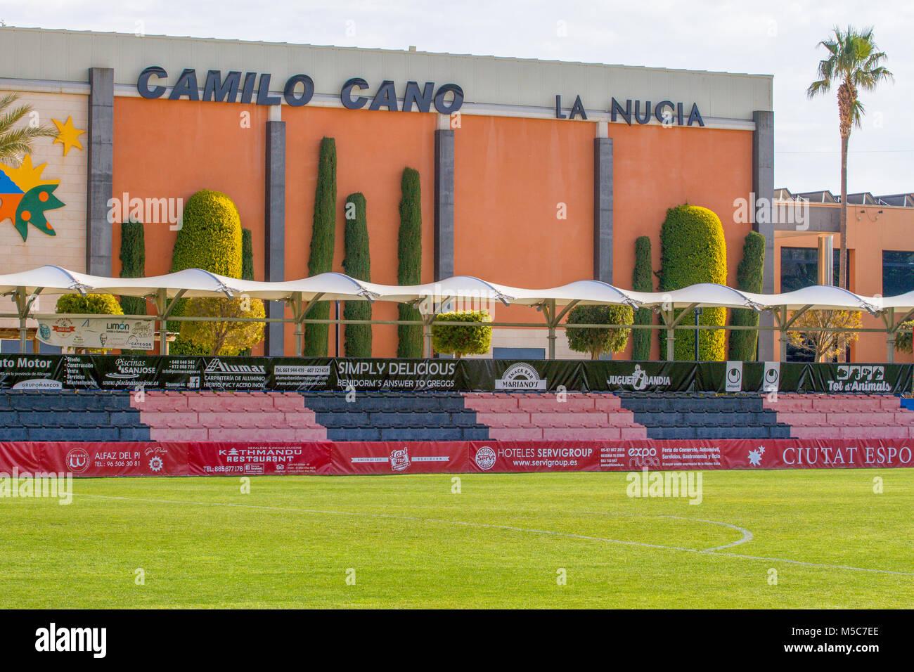 Sport center Ciutat Esportiva Camilo Cano in La Nucia, Spain. - Stock Image