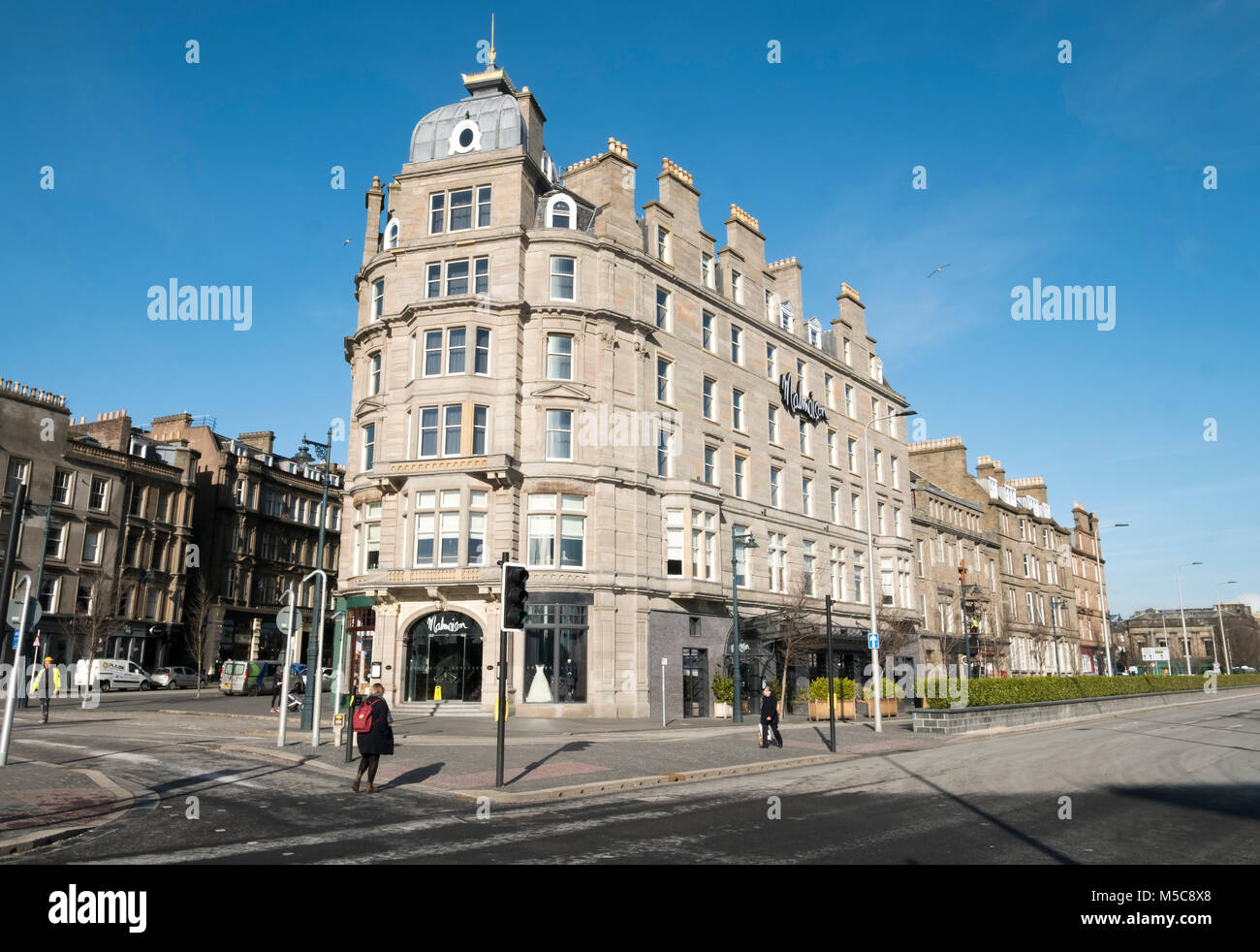 The Malmaison Hotel in Dundee city centre, Tayside Scotland. - Stock Image
