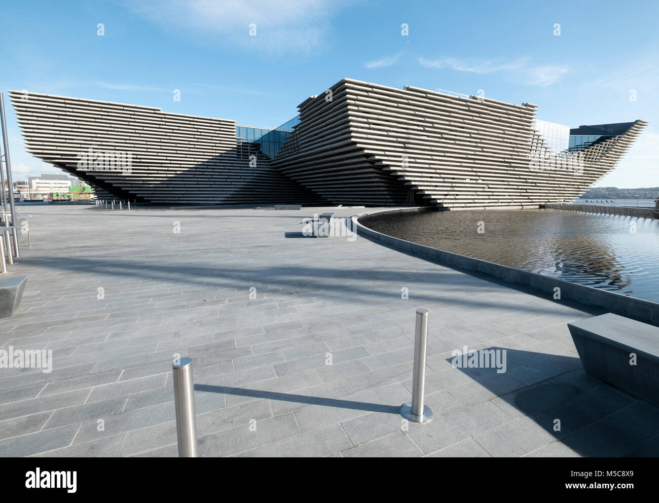 The V&A Museum of Design at the waterfront by the Firth of Tay Dundee Tayside Scotland UK - Stock Image