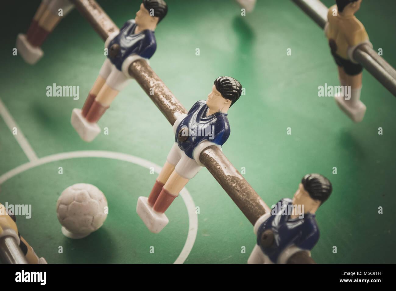 Table football players and ball - Stock Image
