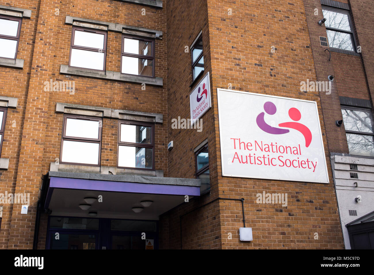 The National Autistic Society Head Office at 393 City Road, Angel, London. NAS is a British charity for people with - Stock Image