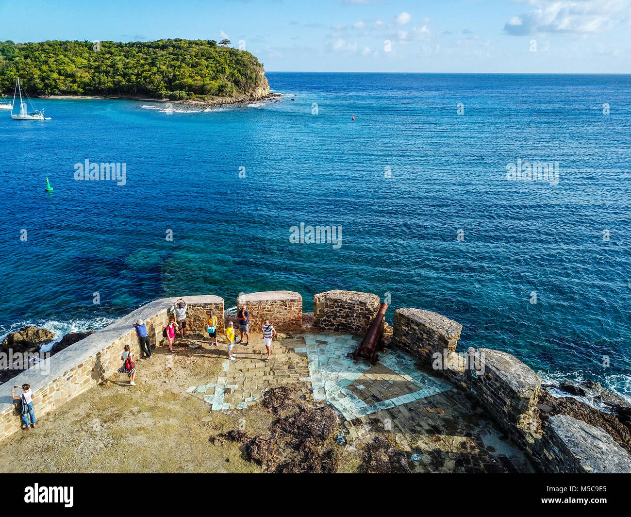 Fort Berkeley, Nelson's Dockyard, Antigua - Stock Image