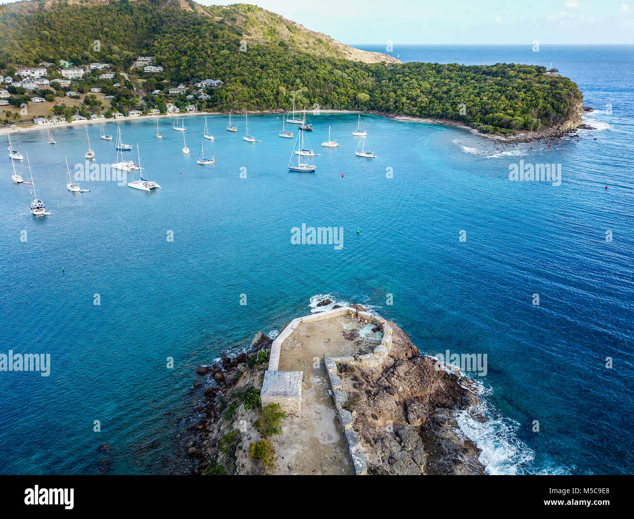 Fort Berkeley, Freeman's Bay, Nelson's Dockyard, Antigua - Stock Image
