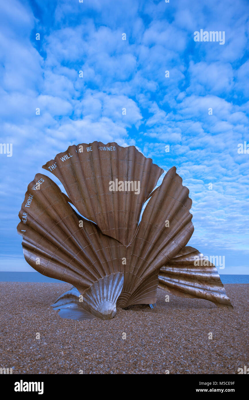 The Scallop, dedicated to Benjamin Britten by Suffolk-based artist Maggi Hambling. - Stock Image