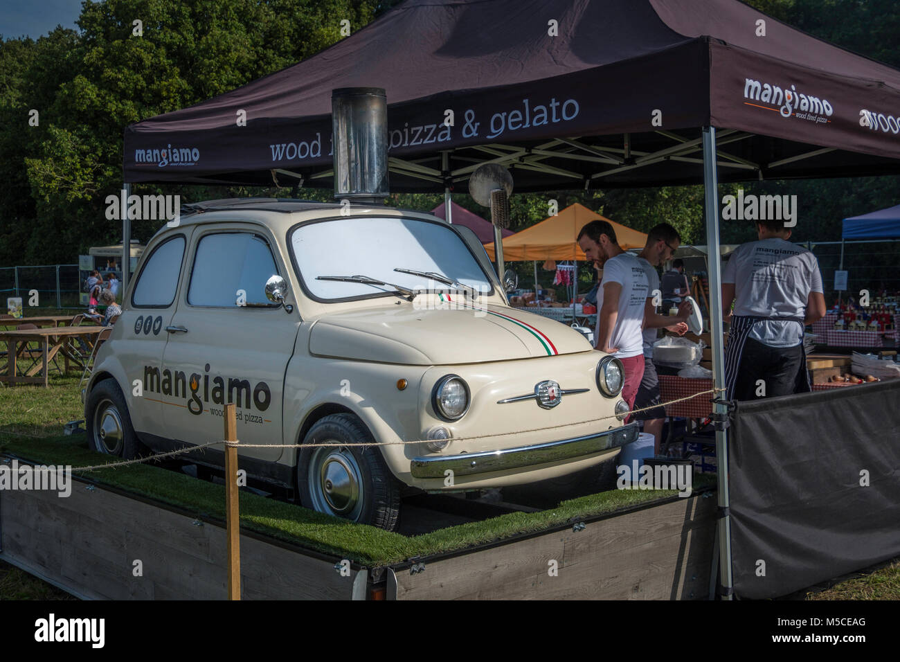 Fiat 500 Car Show Stock Photos Images Alamy 1970 For Sale A Coverted Into Pizza Oven Image