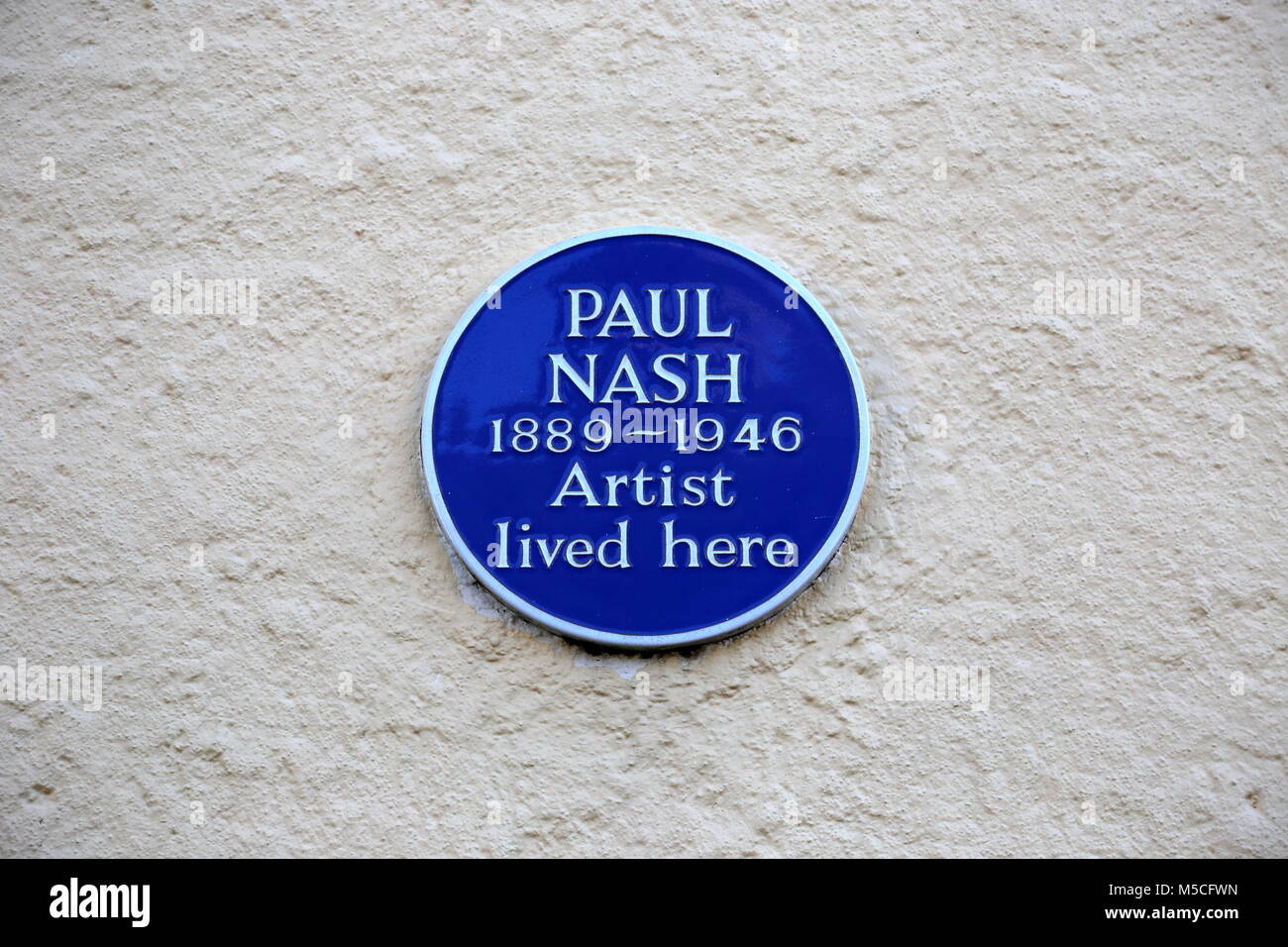 Blue Plaque on former home of Paul Nash (WWI war artist), East Street, Rye, East Sussex, England, Great Britain, - Stock Image