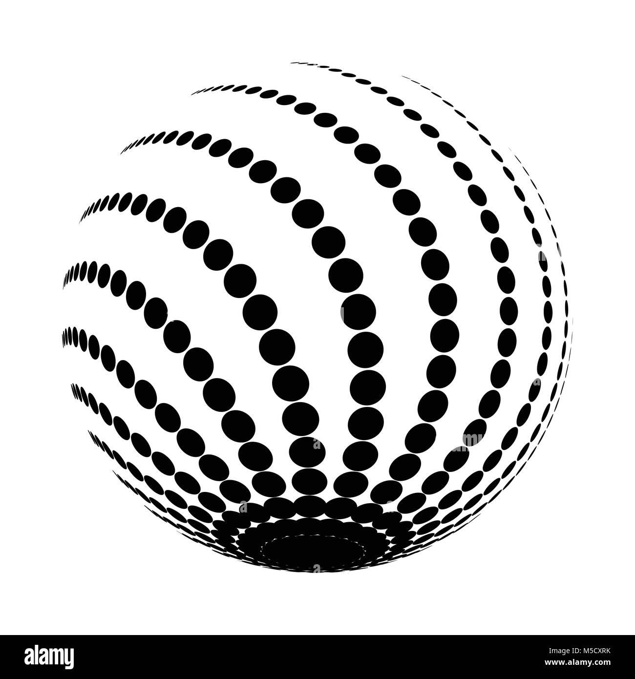 halftone black circle - Stock Image