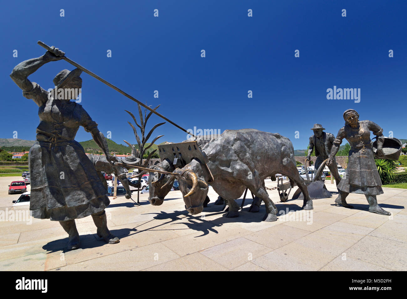Monument for rural people of Ponte de Lima - Stock Image