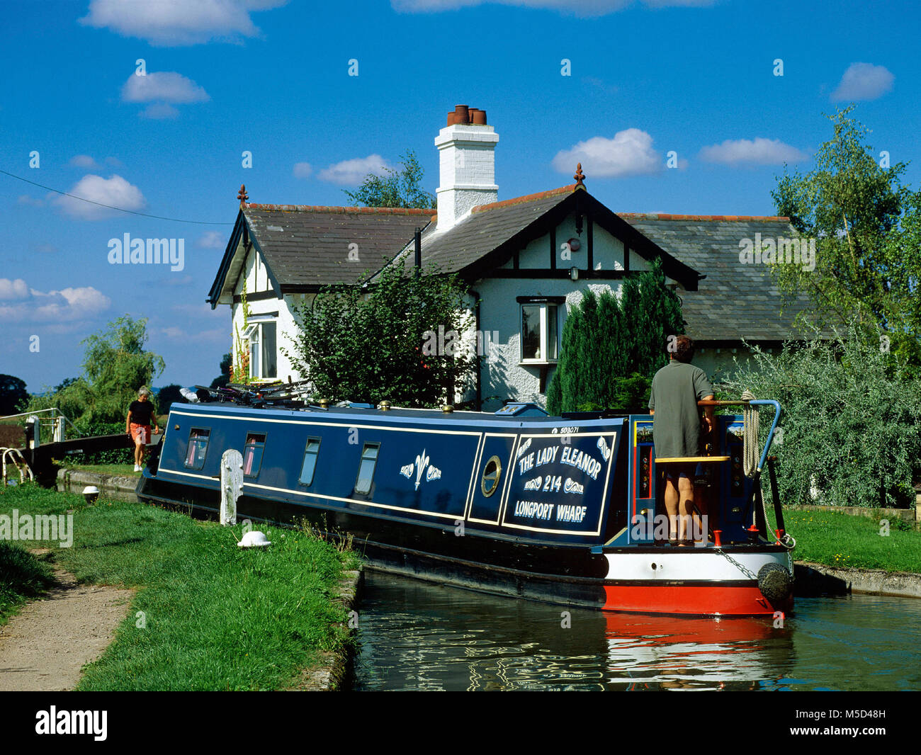 Black Jack's Lock, on the Aylesbury Arm of the Grand Union Canal near Marsworth, Buckinghamshire - Stock Image