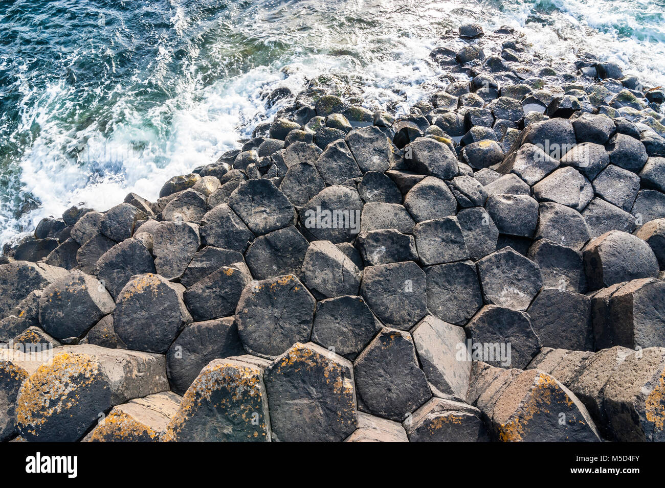 Giant's causeway, Northern Ireland, United Kingdom - Stock Image