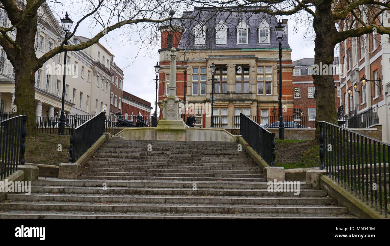 Richmond upon Thames War Memorial and  Council Buildings Greater London Uk - Stock Image