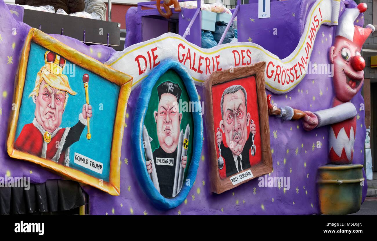 Portraits of autocratic presidents in picture frames, Donald Trump, Kim Jong-un, Recep Tayyip Erdogan, political - Stock Image