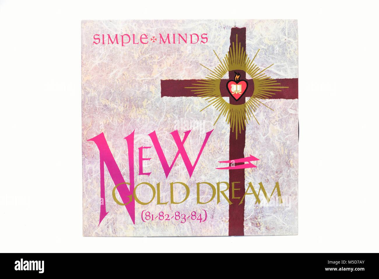 Simple Minds New Gold Dream LP music vinyl album cover art - Stock Image