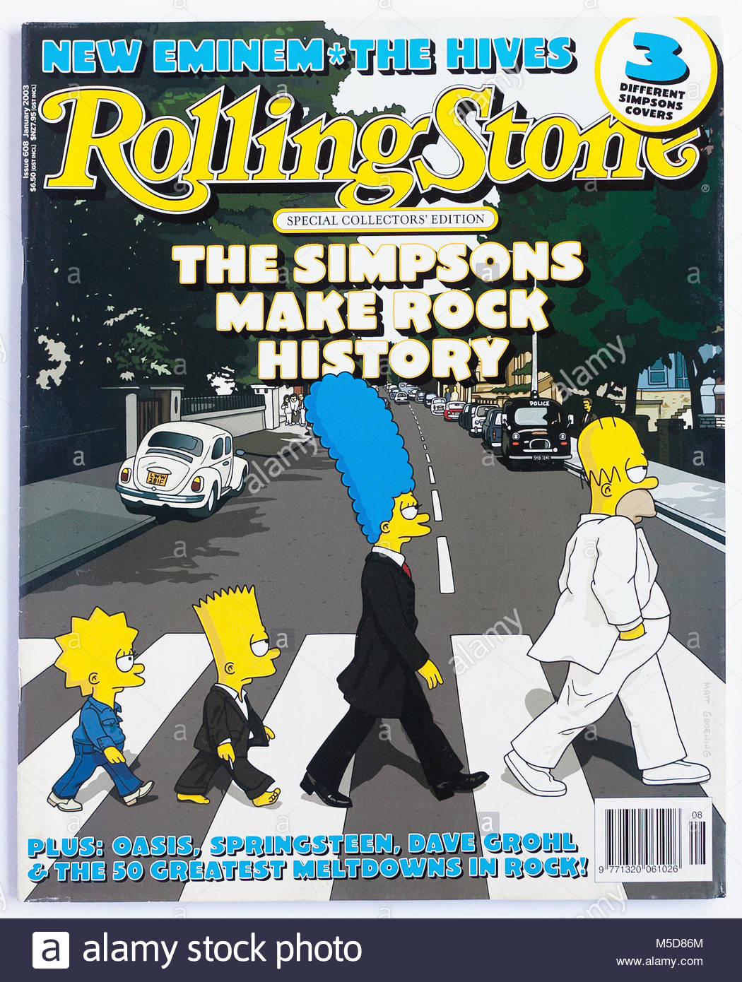The cover of Rolling Stone magazine, issue 608 - Stock Image
