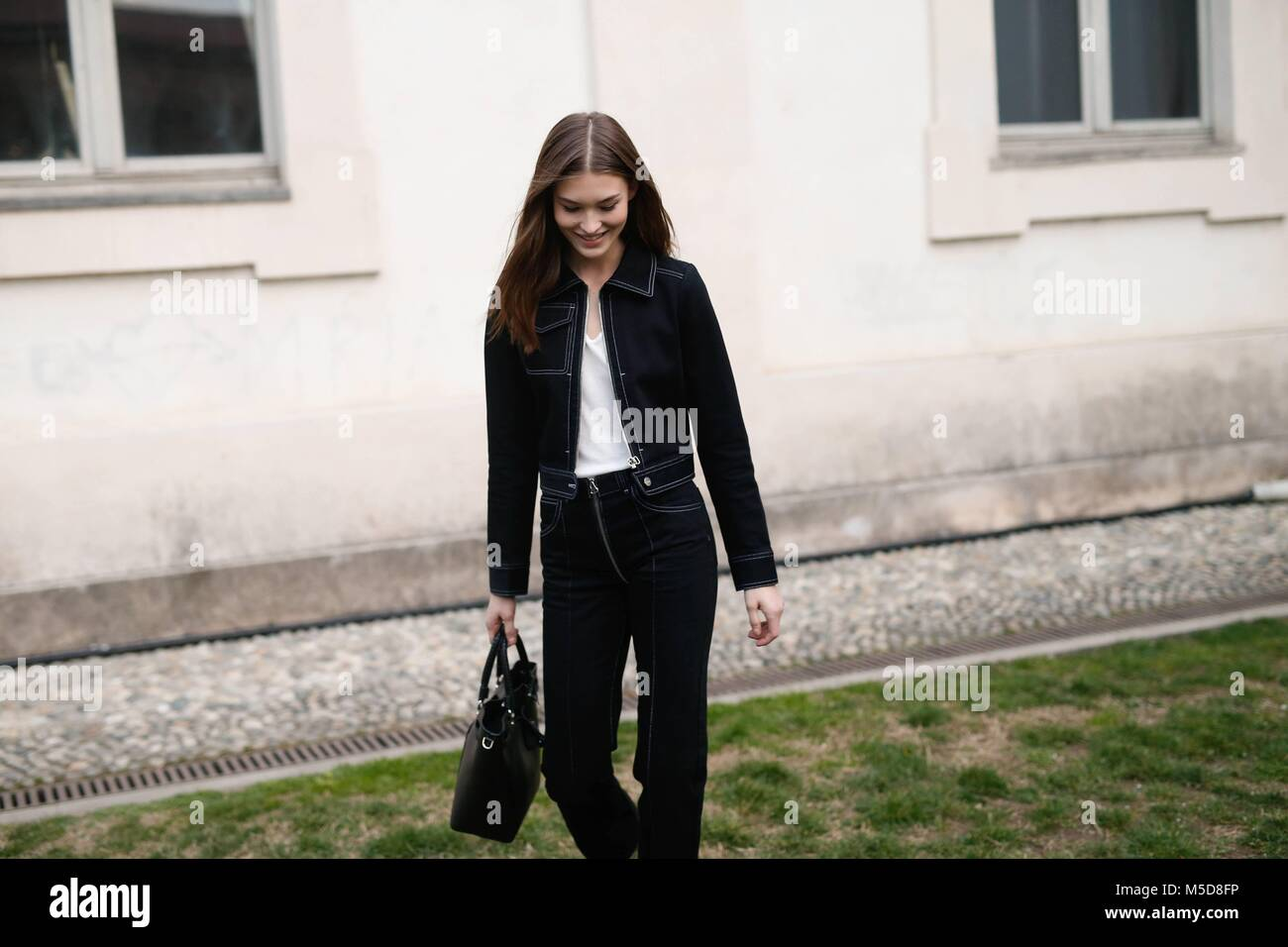 581f9049ef9e Model Grace Elizabeth attending the Alberta Ferretti show during Milan  Fashion Week - Feb 21