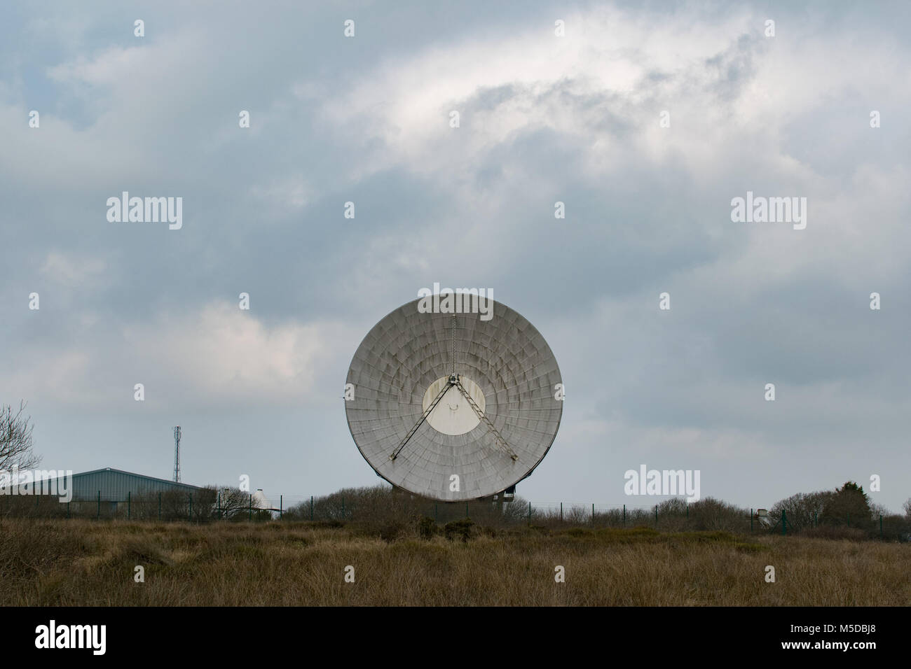 Goonhilly downs, near Helston, Cornwall, UK. 22nd Feb 2018. It was announced today that an £8.4 million investment - Stock Image