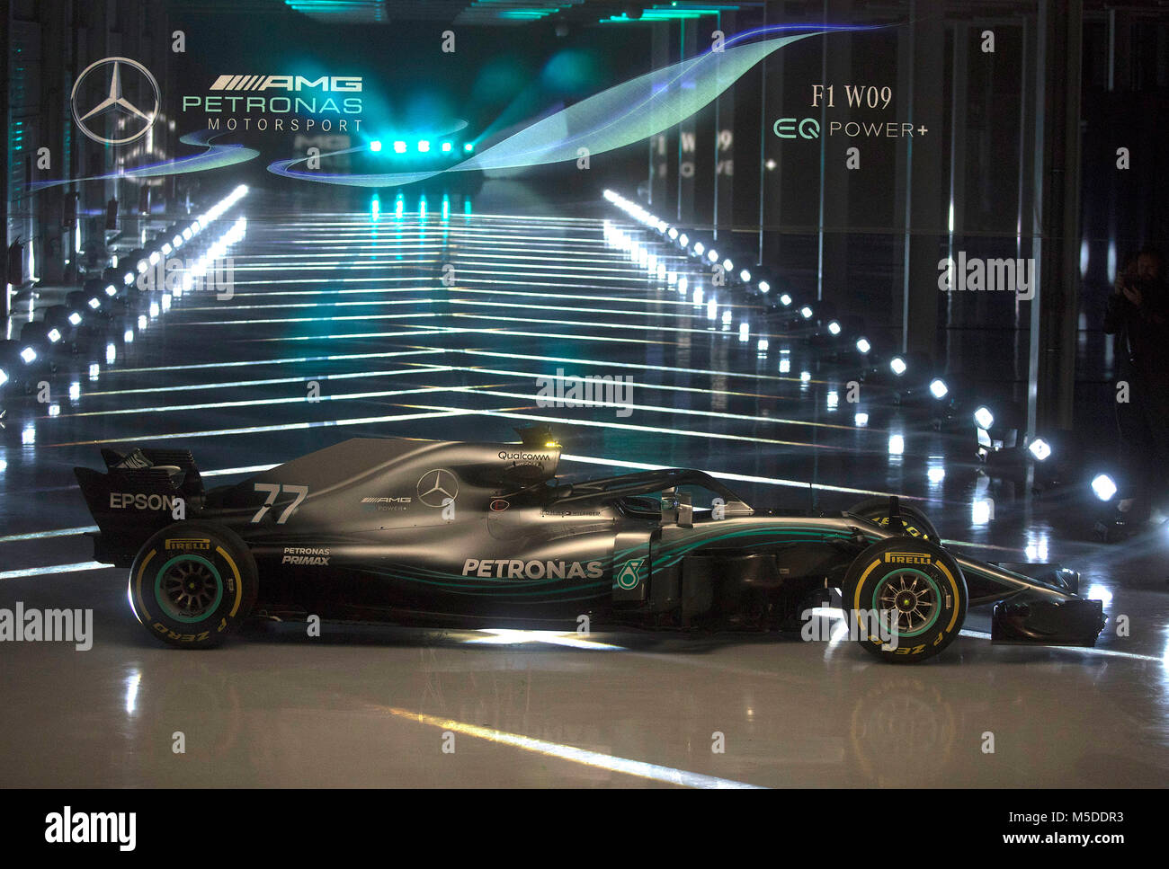silverstone northamptonshire uk 22nd feb 2018 mercedes amg f1 stock photo 175473175 alamy. Black Bedroom Furniture Sets. Home Design Ideas