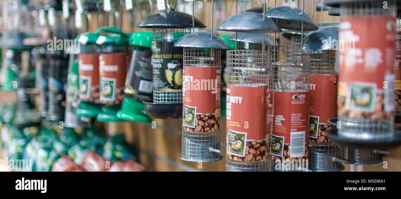 garden centre farm shop warwickshire england uk gardening flowers plants food horticulture pastime hobby shopping - Stock Image