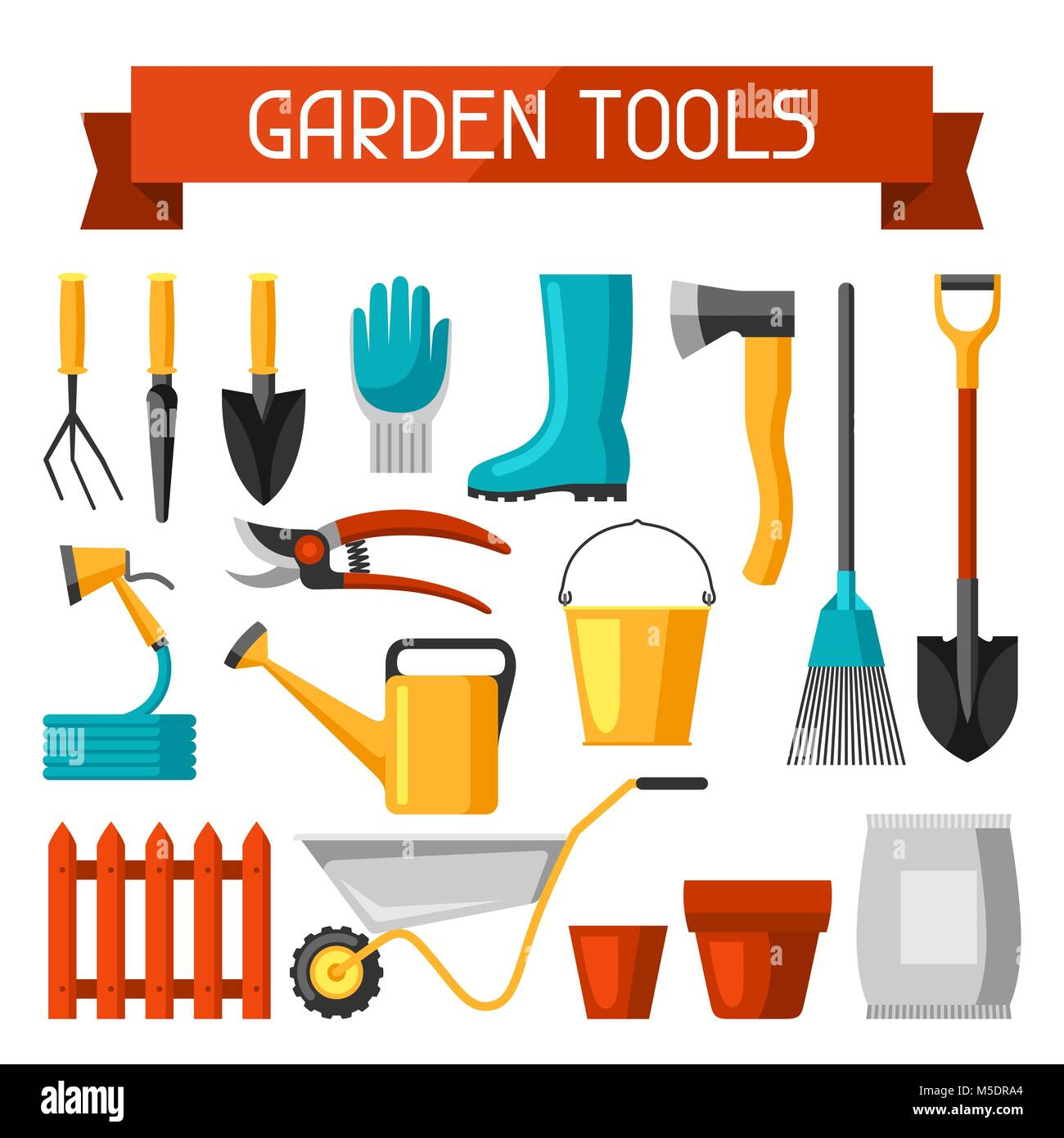 Delicieux Seamless Pattern With Garden Tools And Icons. All For Gardening Business  Illustration