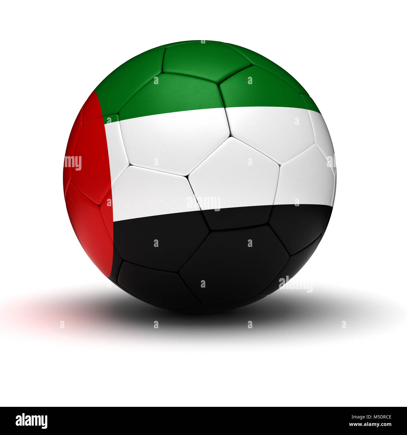 United Arab Emirates Football (isolated with clipping path) - Stock Image