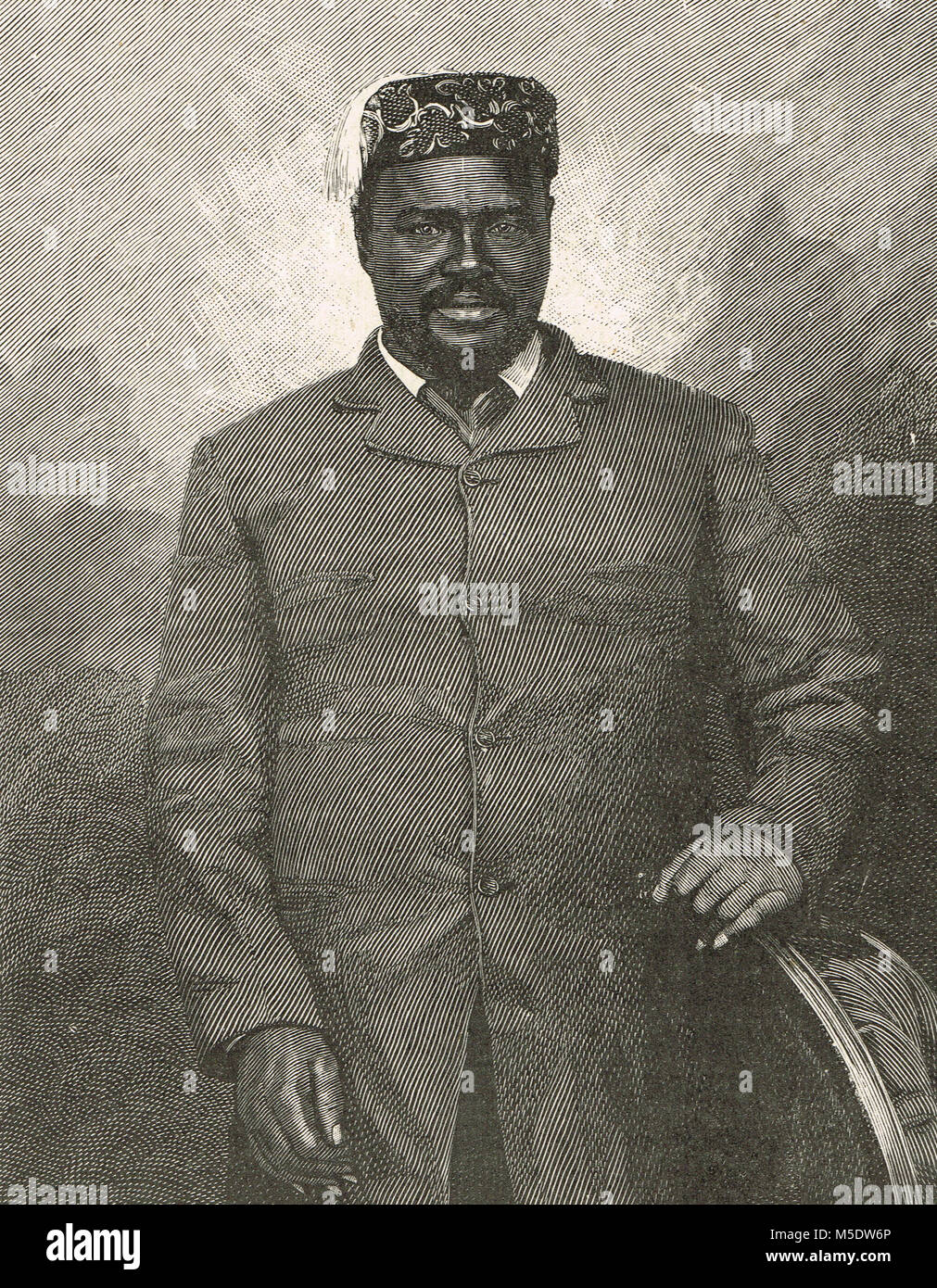 Cetshwayo kaMpande, king of the Zulu Kingdom from 1873 to 1879 - Stock Image
