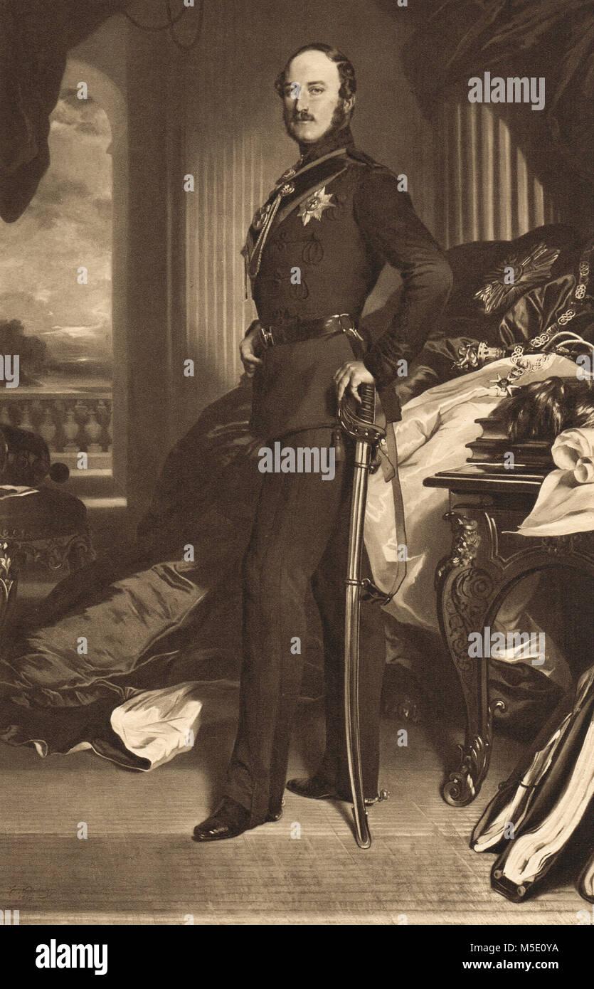 Prince Albert, husband of Queen Victoria - Stock Image