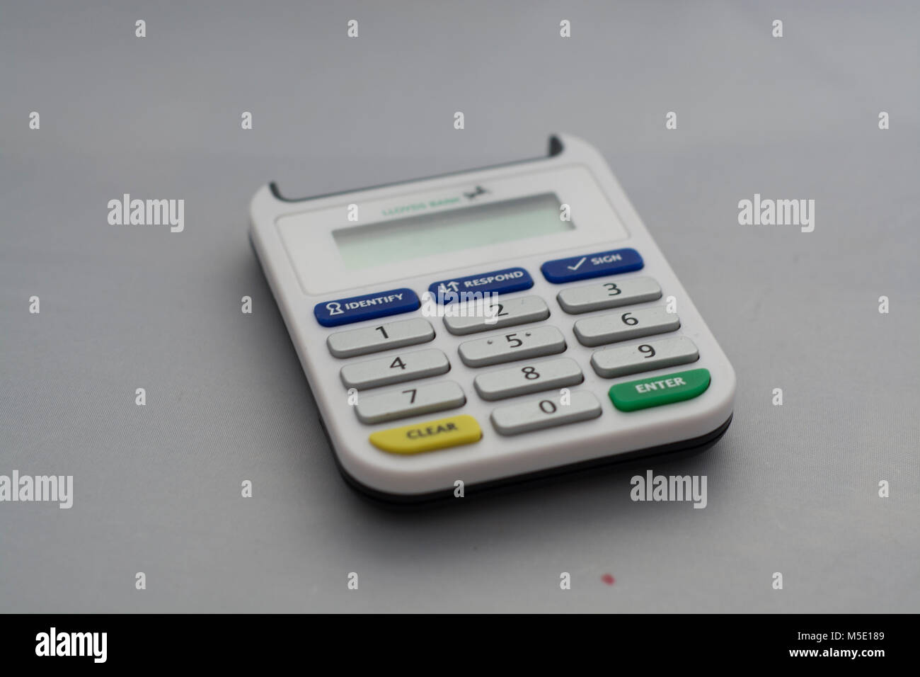 A card reader used in online banking - Stock Image