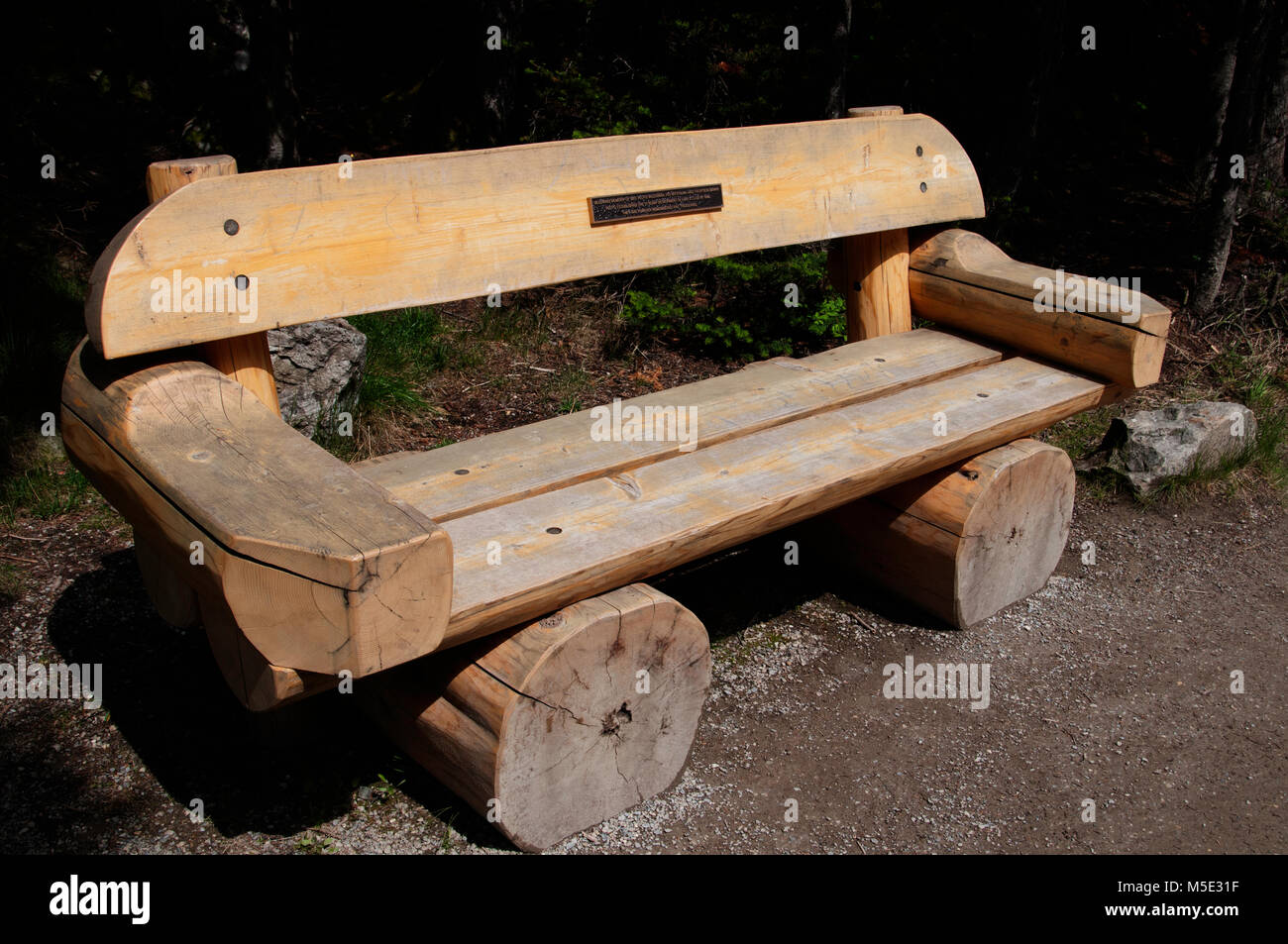 Log Bench - Stock Image