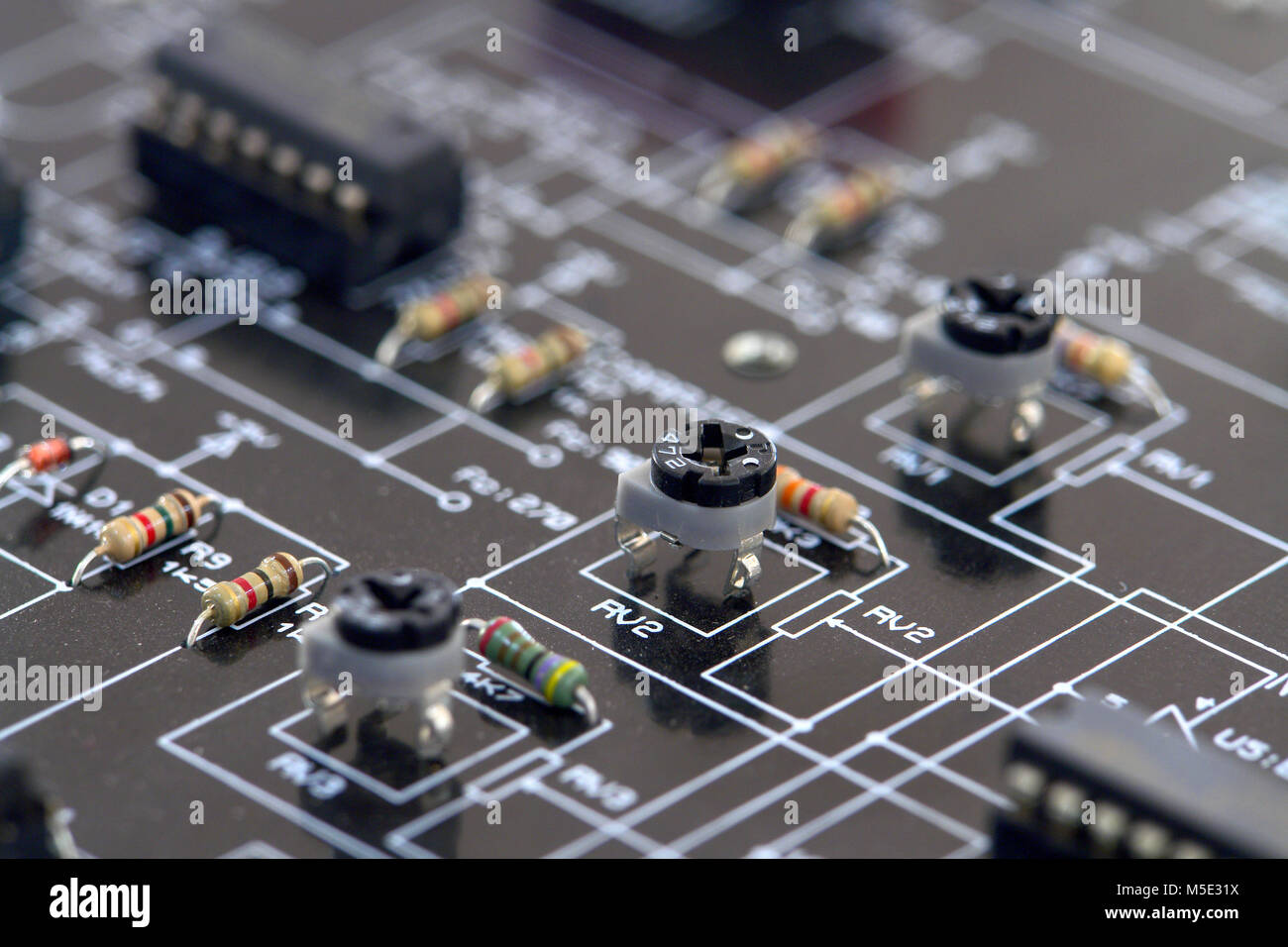 Schematic Image Stock Photos Images Alamy Glass On The Electronic Diagramideal Technology Background Circuit Details