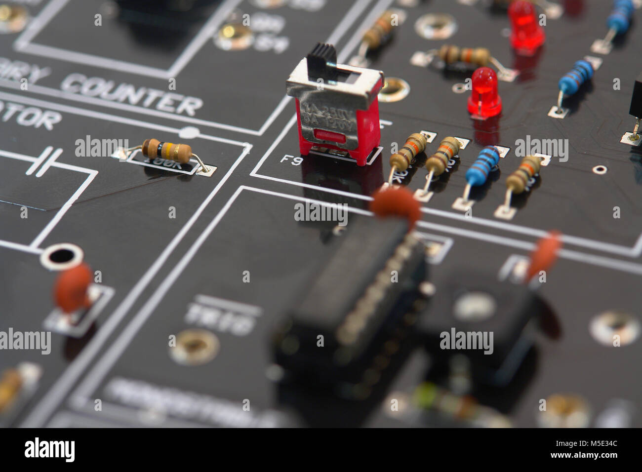 Circuit Board Schematic Drawing Electronic Stock Photos Electric Diagram Details Image