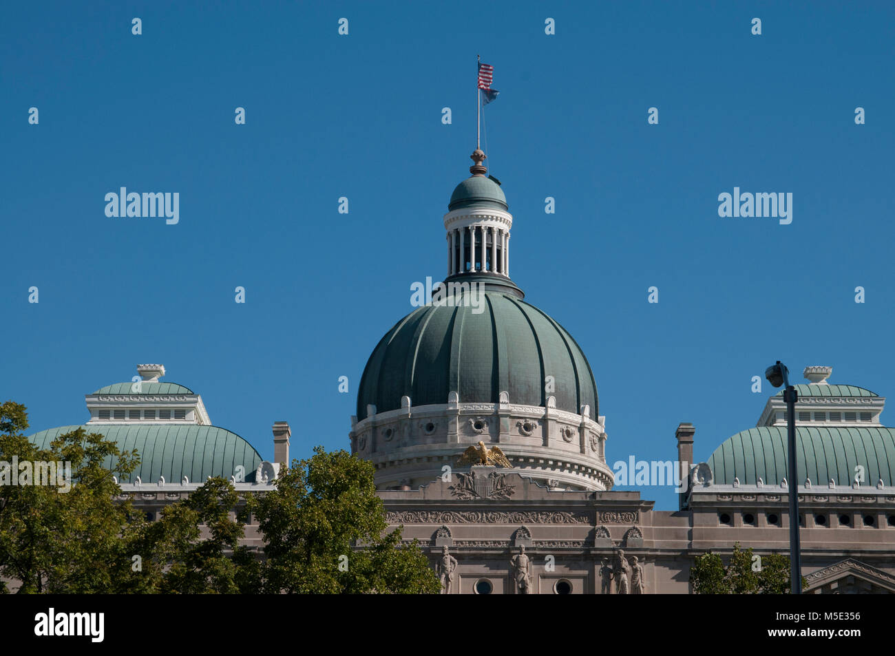 Indiana State Capital Building  / Dome , Indianapolis, Indiana USA - Stock Image
