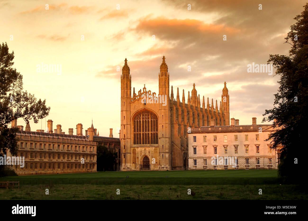 King's College Chapel, Cambridge, England, UK - Stock Image