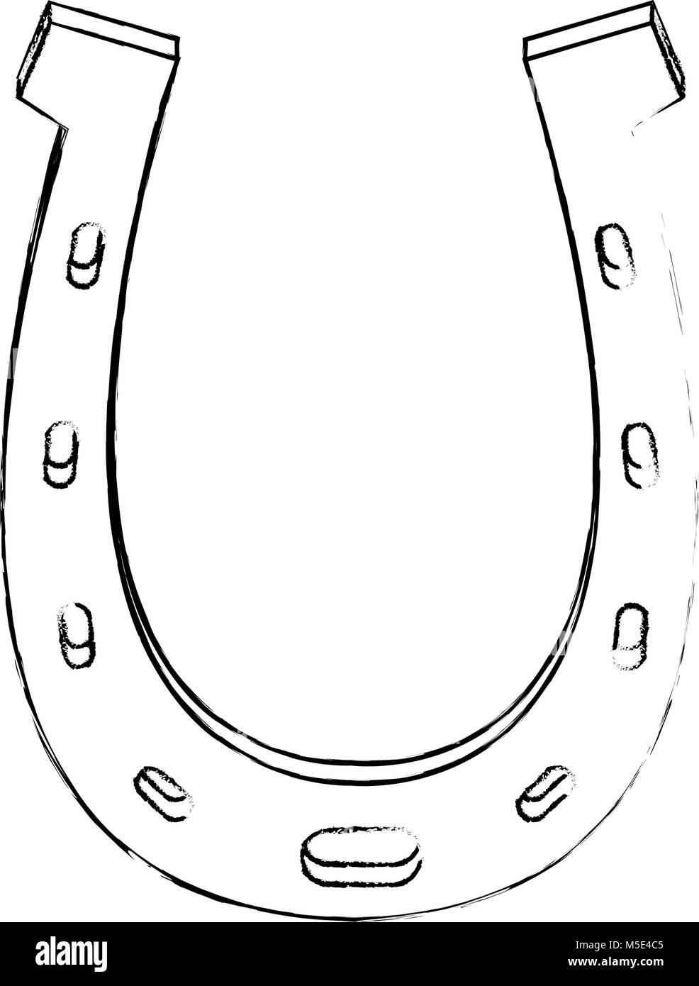 Horseshoe lucky symbol - Stock Image