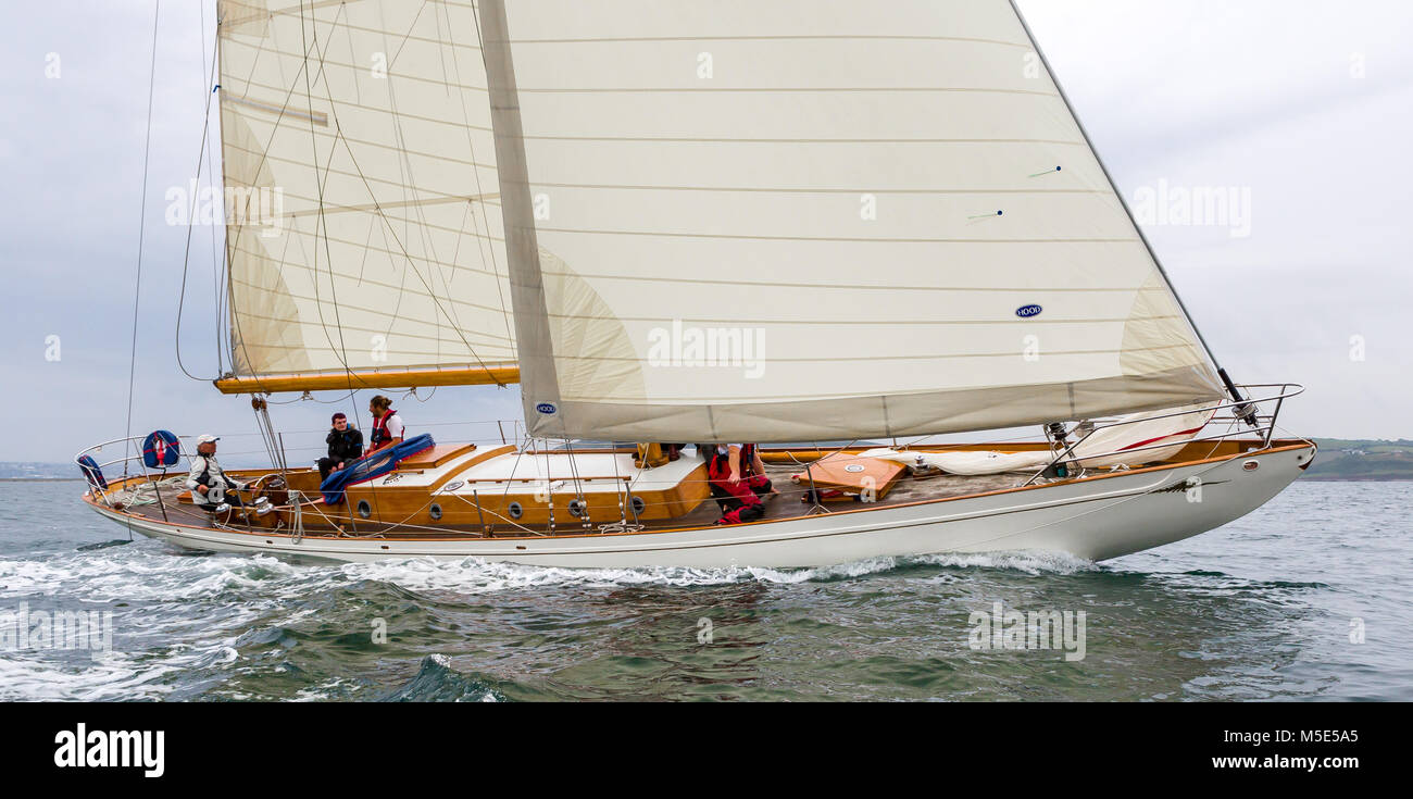 Classic Wooden Yacht Stock Photos Classic Wooden Yacht Stock