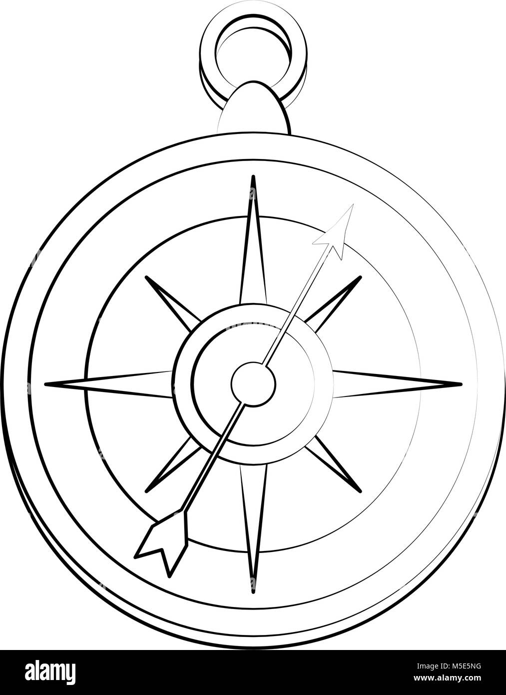 Navigation compass isolated - Stock Image