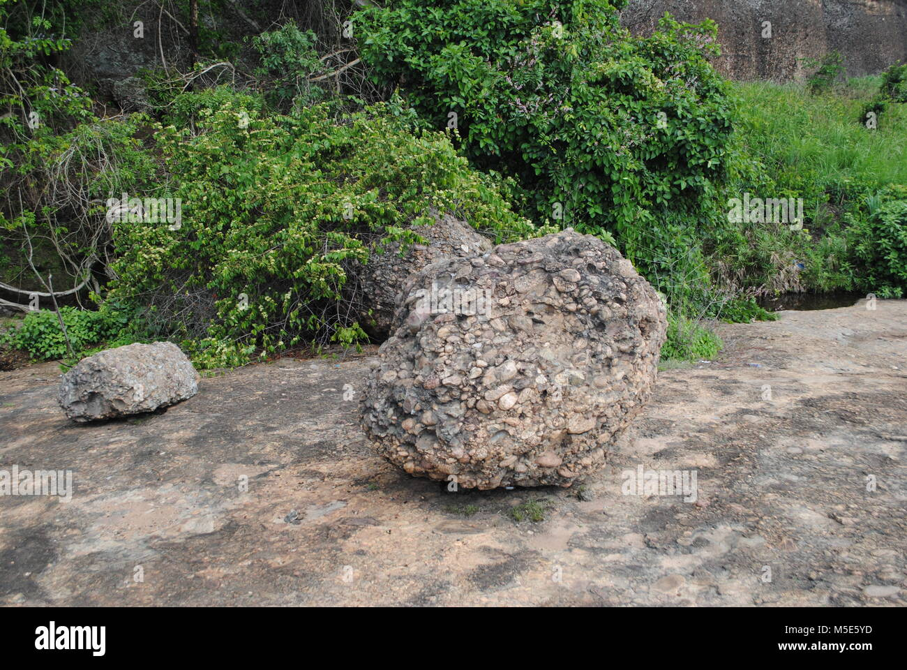The Pungo Andongo Black Rocks are located in the municipality of Kacuso, about 116 km from the city of Malanje are Stock Photo