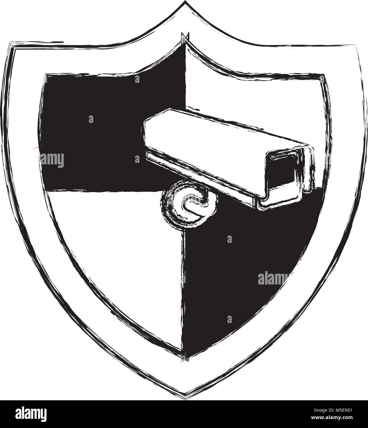 shield protection surveillance camera data system - Stock Image