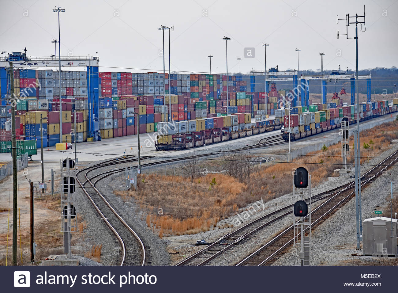 Inland Port Greer SC USA Aerial View - Stock Image