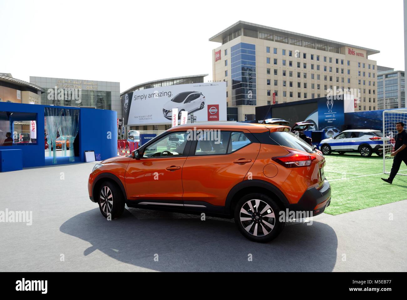 Dubai Uae November 17 The Nissan Kicks Crossover Is On