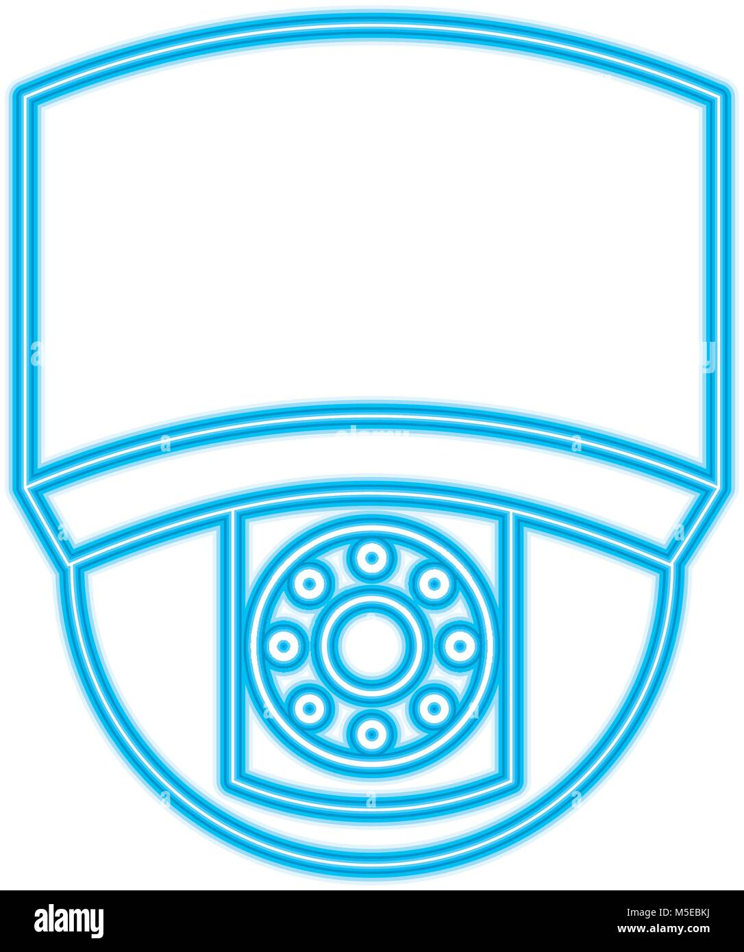 ceiling surveillance camera security technology - Stock Image