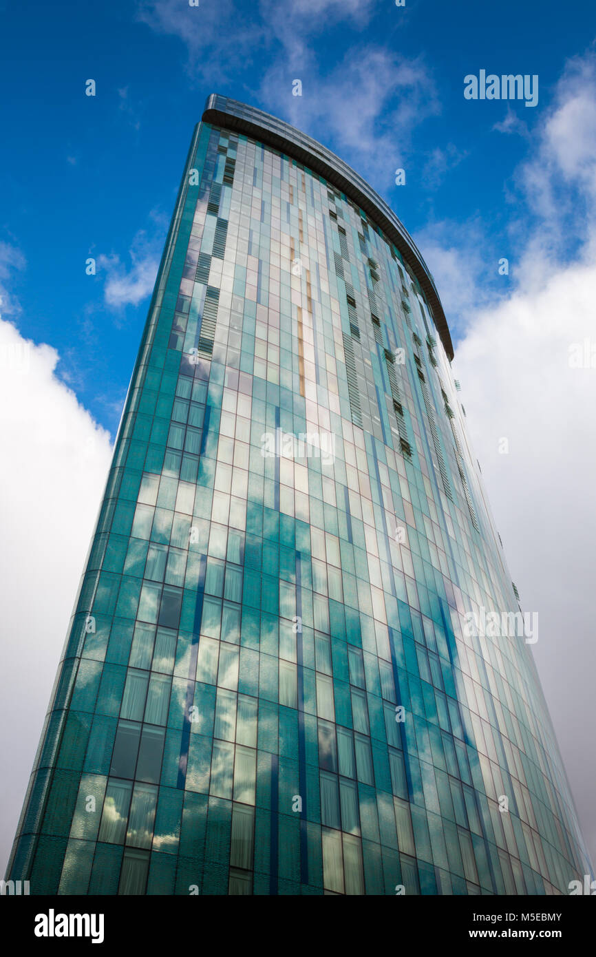 Radisson Blu hotel exterior, Birmingham city centre queensway, Birmingham UK - Stock Image