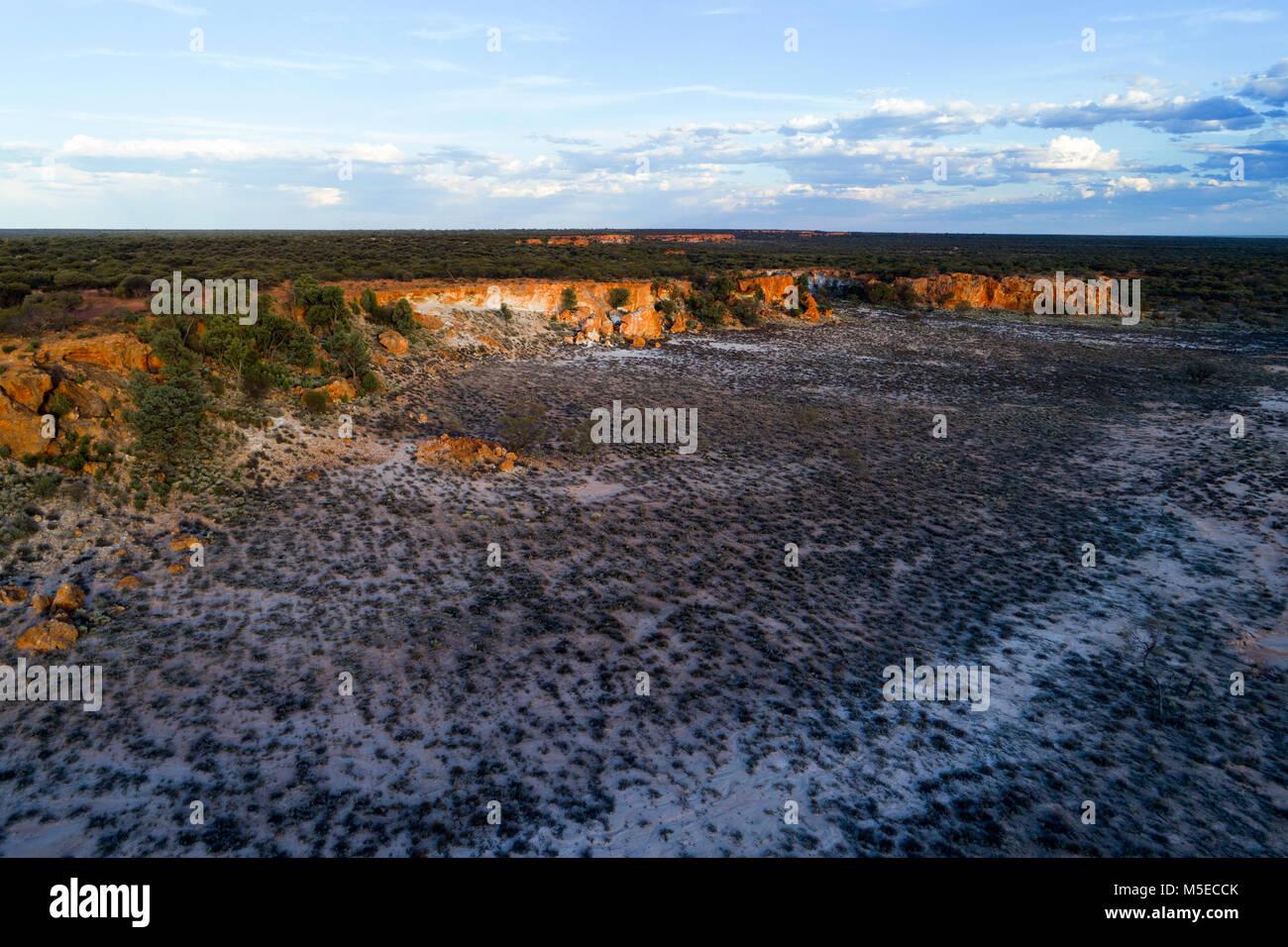Breakaway landscape, Murchison, Western Australia - Stock Image