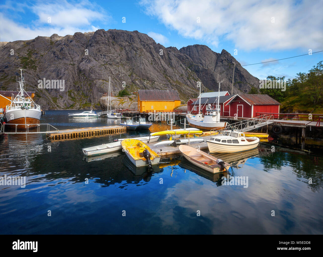 Nusfjord Fishing Villange in Norway - Stock Image