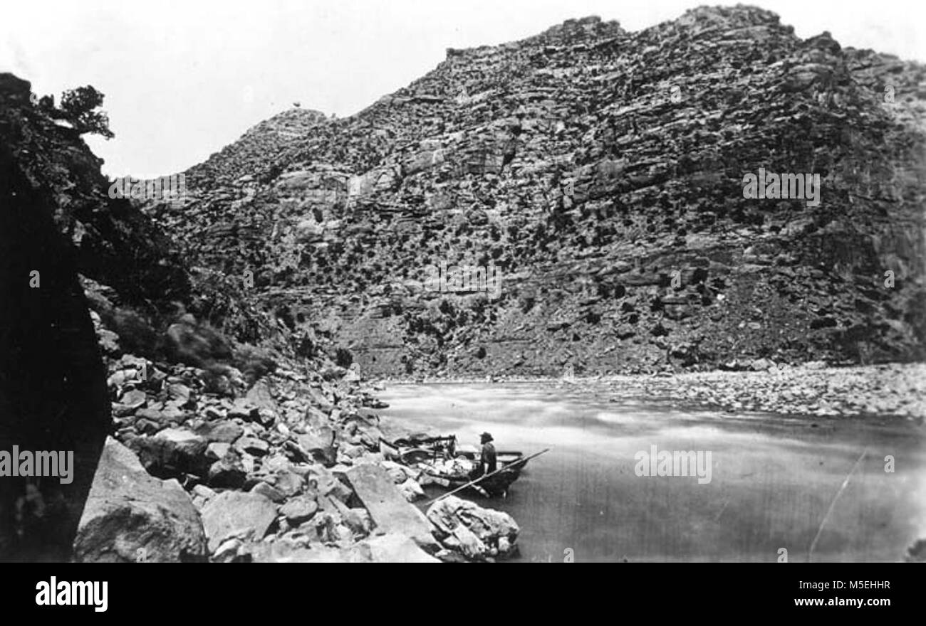 Grand Canyon Powell Expedition   FROM JOHN WESLEY POWELL'S 2ND EXPEDITION. 'GREEN RIVER, THE CANYON OF DESOLATION.' - Stock Image