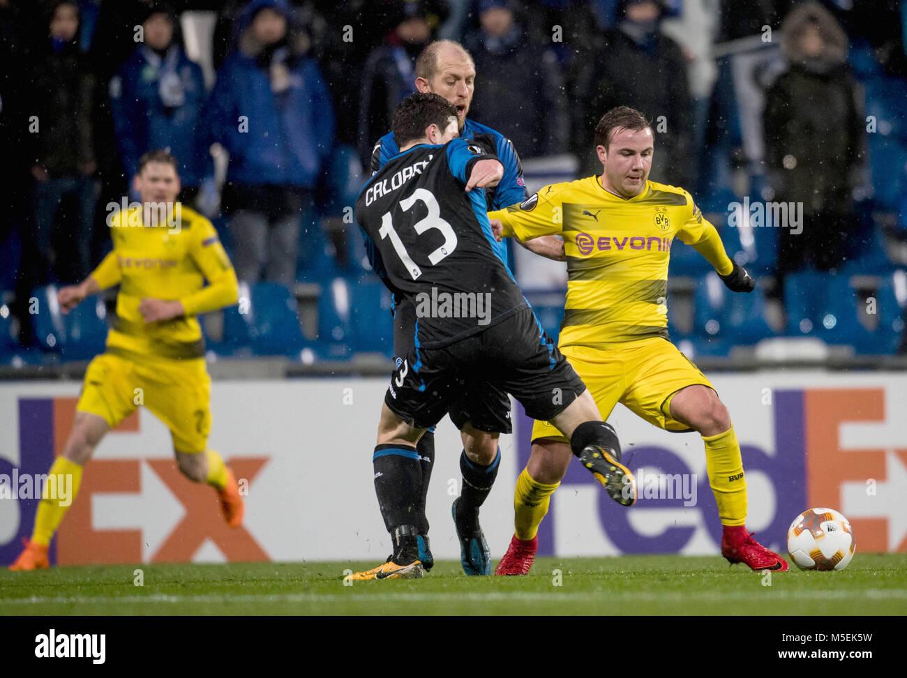 22 February 2018, Italy, Bergamo: Soccer, Europa League, Atalanta Bergamo vs. Borussia Dortmund, Round of last 32: - Stock Image