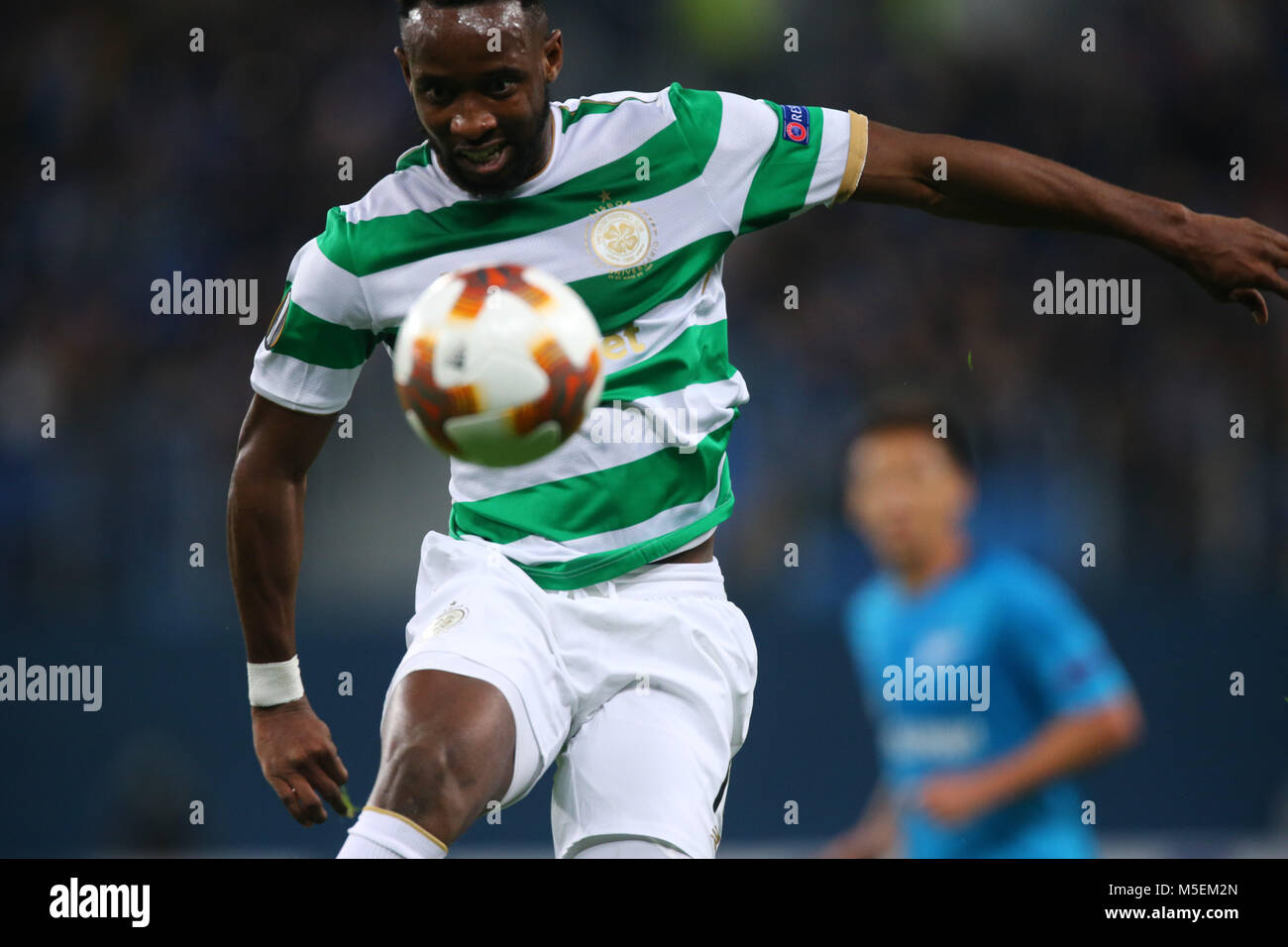 Saint Petersburg, Russia. 22nd Feb, 2018. Moussa Dembélé of FK Celtic vie for the ball during the UEFA - Stock Image