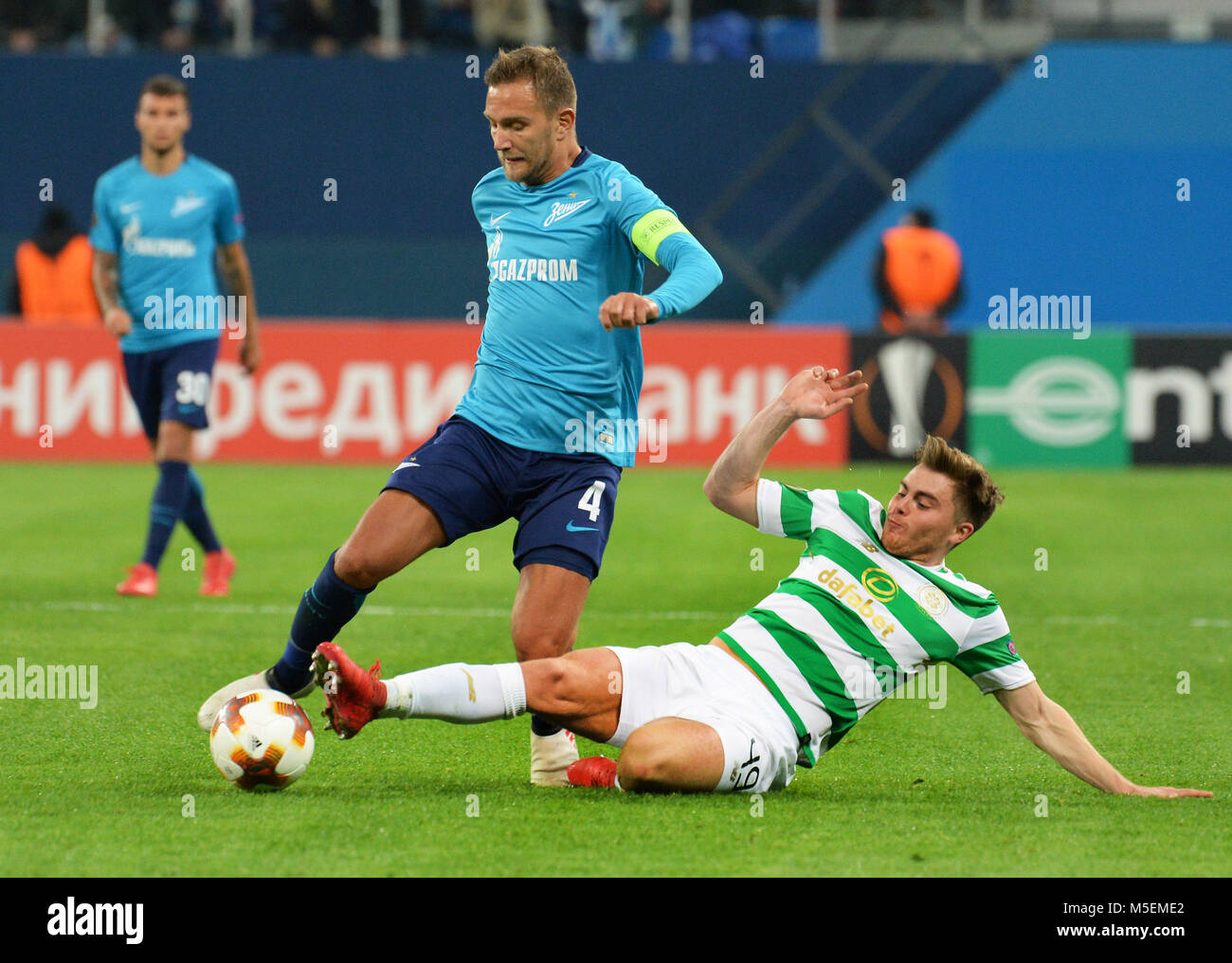 St. Petersburg, Russia. 22nd Feb, 2018. Russia. St. Petersburg. February 22, 2018. Players of ''Zenit'' - Stock Image