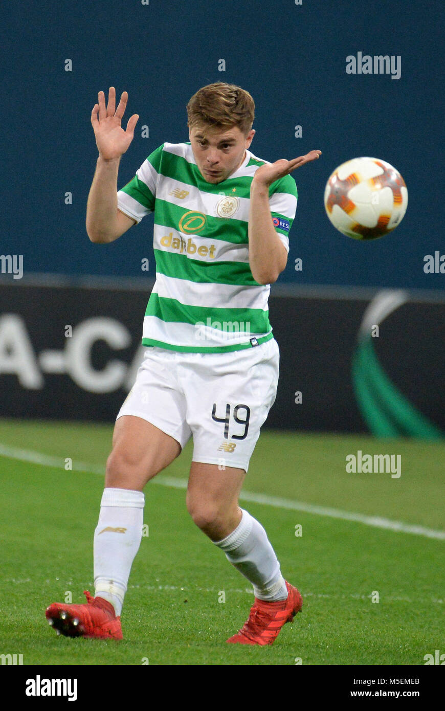 St. Petersburg, Russia. 22nd Feb, 2018. Russia. St. Petersburg. February 22, 2018. Players of ''Celtic'' - Stock Image